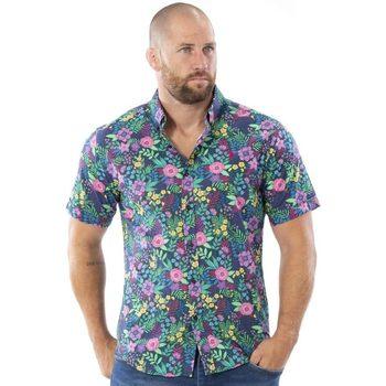 Vêtements Homme Chemises manches courtes Ruckfield Chemise fleurie Tropical Vert