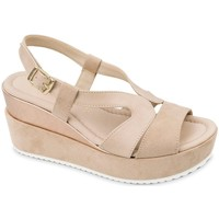 Chaussures Femme Sandales et Nu-pieds Valleverde Tronchetto 46103 scarpe stivaletto pelle donna nero Beige