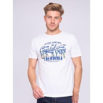Vêtements Homme T-shirts manches courtes Ritchie T-shirt col rond pur coton NANITOU Ecru