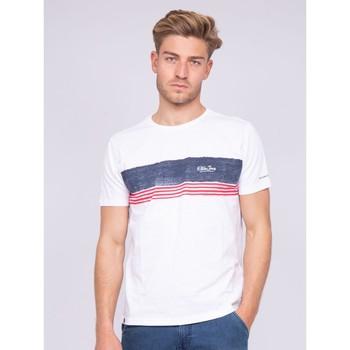 Vêtements Homme T-shirts manches courtes Ritchie T-shirt col rond pur coton NIDEEP Blanc