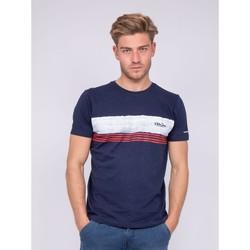 Vêtements Homme T-shirts manches courtes Ritchie T-shirt col rond pur coton NIDEEP Bleu marine