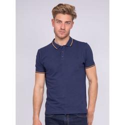 Vêtements Homme Polos manches courtes Ritchie Polo pur coton POPULAR Bleu marine