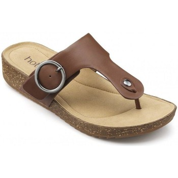 Chaussures Femme Tongs Hotter Resort  Leather Brown
