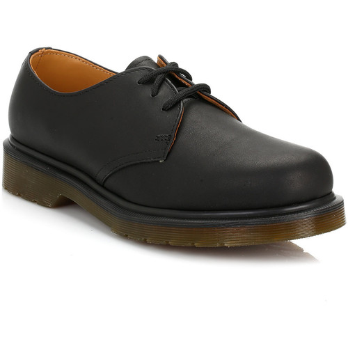 Dr Martens Dr. Martens 1461 Greasy Black Shoes Dr Martens_523 - Chaussures Derbies
