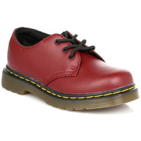 Derbies Dr Martens Kids Cherry Red Colby Softy T Leather Shoes