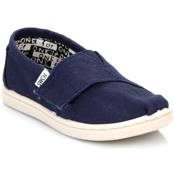 Chaussons Toms Infant Navy Canvas Tiny Classic Espadrilles
