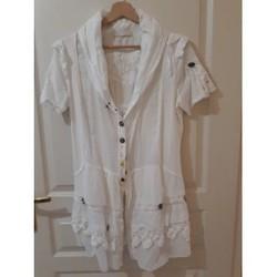 Vêtements Femme Tuniques Sans marque Tunique blanche manches courtes Elisa Cavaletti Blanc