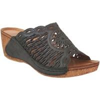 Chaussures Femme Mules Karyoka Geni Noir cuir
