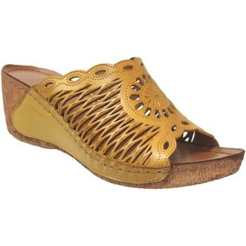 Chaussures Femme Mules Karyoka Geni Jaune cuir