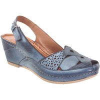 Chaussures Femme Sandales et Nu-pieds Karyoka Figo Bleu jeans cuir