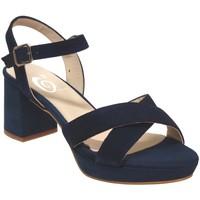 Chaussures Femme Sandales et Nu-pieds Folies 2002 Marine velours
