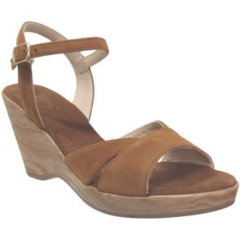 Chaussures Femme Sandales et Nu-pieds Folies 3204 Marron velours