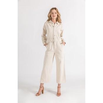 Vêtements Femme Combinaisons / Salopettes Toxik3 Combinaison Beige clair