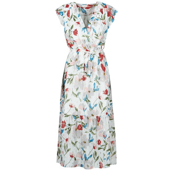 Vêtements Femme Robes longues Moony Mood OLICA Blanc / Multicolore
