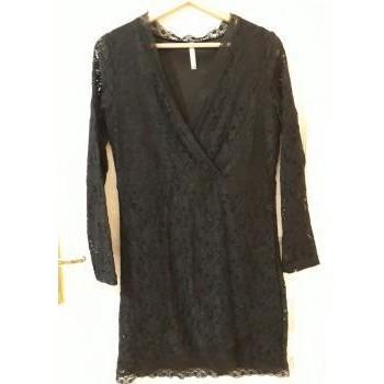 Vêtements Femme Robes courtes Sans marque Robe noire en dentelle  Blanche Porte Noir