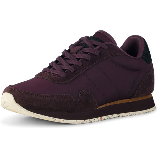 Chaussures Femme Baskets basses Woden Baskets Nora III Leather Violet