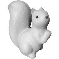 Maison & Déco Statuettes et figurines Le Monde Des Animaux Écureuil pailleté de décoration en céramique Blanc