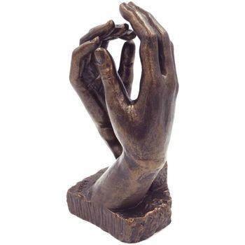 Maison & Déco Statuettes et figurines Muzeum Figurine La Cathédrale de Rodin 27 cm Marron