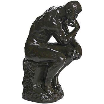 Maison & Déco Statuettes et figurines Muzeum Figurine reproduction Le Penseur de Rodin 37 cm Marron