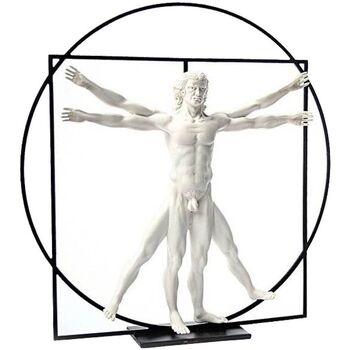 Maison & Déco Statuettes et figurines Muzeum Statuette de collection Léonard de Vinci - l'homme de Vitruve Blanc
