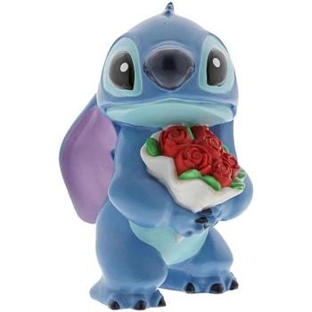 Maison & Déco Statuettes et figurines Disney Statuette de collection Stitch Fleurs Bleu