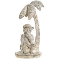 Maison & Déco Statuettes et figurines Le Monde Des Animaux Statuette Singe et Palmier Beige