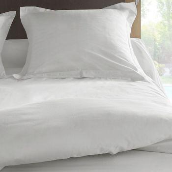 Maison & Déco Taies d'oreillers, traversins Vent Du Sud Taie de traversin en percale de coton 43 x 190 cm Blanc