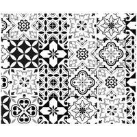 Maison & Déco Stickers Retro Rouleau Sticker Carreaux de Ciment 45 x 150 cm Blanc
