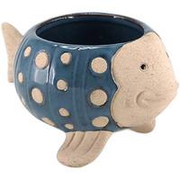 Maison & Déco Vases, caches pots d'intérieur Le Monde Des Animaux Cache Pot de Fleurs - Poisson Bleu