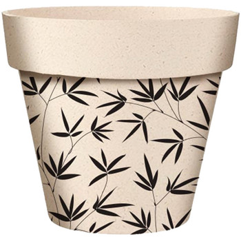 Maison & Déco Vases, caches pots d'intérieur Zen Et Ethnique Cache Pot Feuilles en Bambou Beige