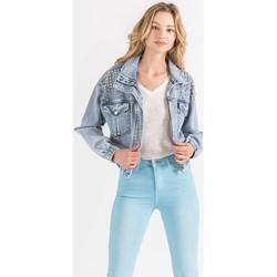Vêtements Femme Vestes en jean Toxik3 Blouson avec clous Bleu jean clair