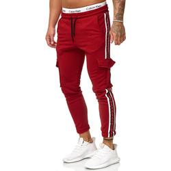 Vêtements Homme Pantalons de survêtement Cabin Pantalon jogging treillis Jogging 1224 rouge foncé Rouge