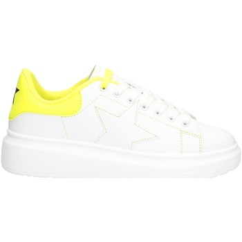 Chaussures Femme Baskets basses Shop Art SA050104 BLANC / JAUNE FLUO