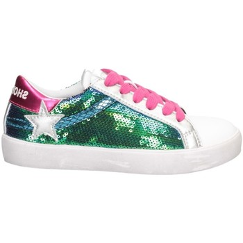 Chaussures Fille Baskets basses Shop Art SA050317 ARGENT / FUCHSIA / BLANC