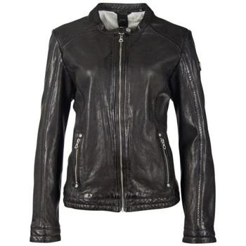 Vêtements Femme Vestes en cuir / synthétiques Gipsy GGJAYLA CF LAMAXV BLACK Noir