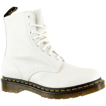 Chaussures Femme Bottines Dr Martens 1460 pascal optical white virginia blanc