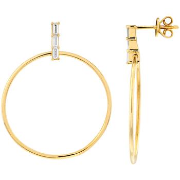 Montres & Bijoux Femme Boucles d'oreilles Cleor Boucles d'oreilles  en Argent 925/1000 Jaune et Oxyde Jaune