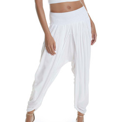 Vêtements Femme Pantalons fluides / Sarouels Selmark Pantalon saourel plage  Mare Blanc