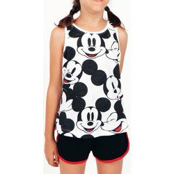 Vêtements Fille Pyjamas / Chemises de nuit Admas Pyjama fille short débardeur Mickey Heads Disney blanc Blanc