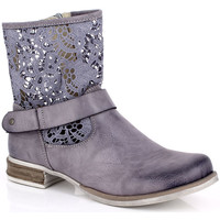 Chaussures Femme Boots Kimberfeel ANAELLE Gris