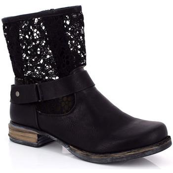 Chaussures Femme Bottines Kimberfeel ANAELLE Noir