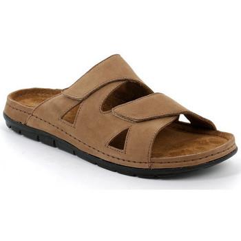 Chaussures Homme Mules Grunland PANTOUFLES POUR HOMMES GRÜNLAND - 2294 TABAC Marron