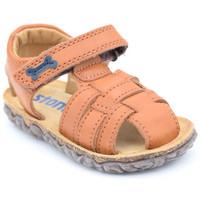 Chaussures Garçon Sandales et Nu-pieds Stones and Bones raxi Marron