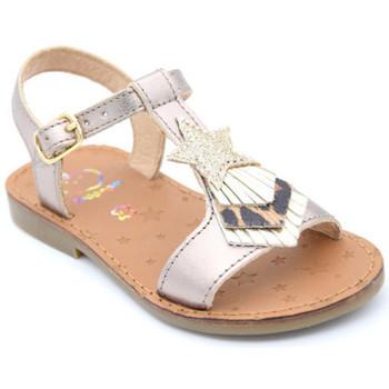 Chaussures Fille Sandales et Nu-pieds Shoo Pom happy kid Doré