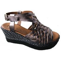 Chaussures Femme Sandales et Nu-pieds Lune Et L'autre Sandale compensé Argenté