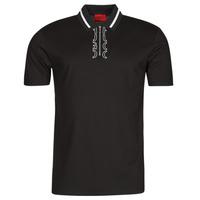 Vêtements Homme Polos manches courtes HUGO DOLMAR Noir / Blanc