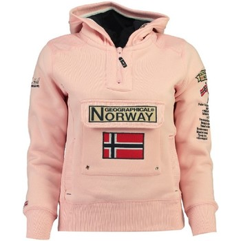 Vêtements Fille Sweats Geographical Norway Sweat Fille Gymclass New A100 Rose