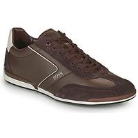 Chaussures Homme Baskets basses BOSS Saturn_Lowp_ltal Marron