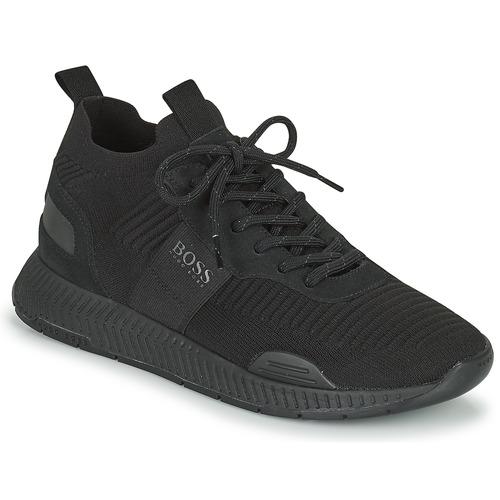 Chaussures Homme Baskets basses BOSS TITANIUM RUNN KNST1 Noir