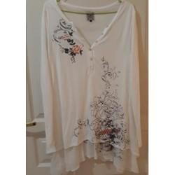 Vêtements Femme Tuniques Sans marque Tunique blanche La Mode est à Vous Blanc